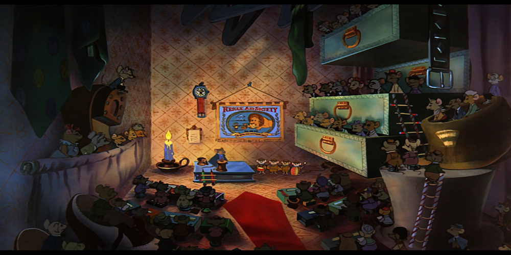 The Rescuers, mice, crowd, Disney, movies