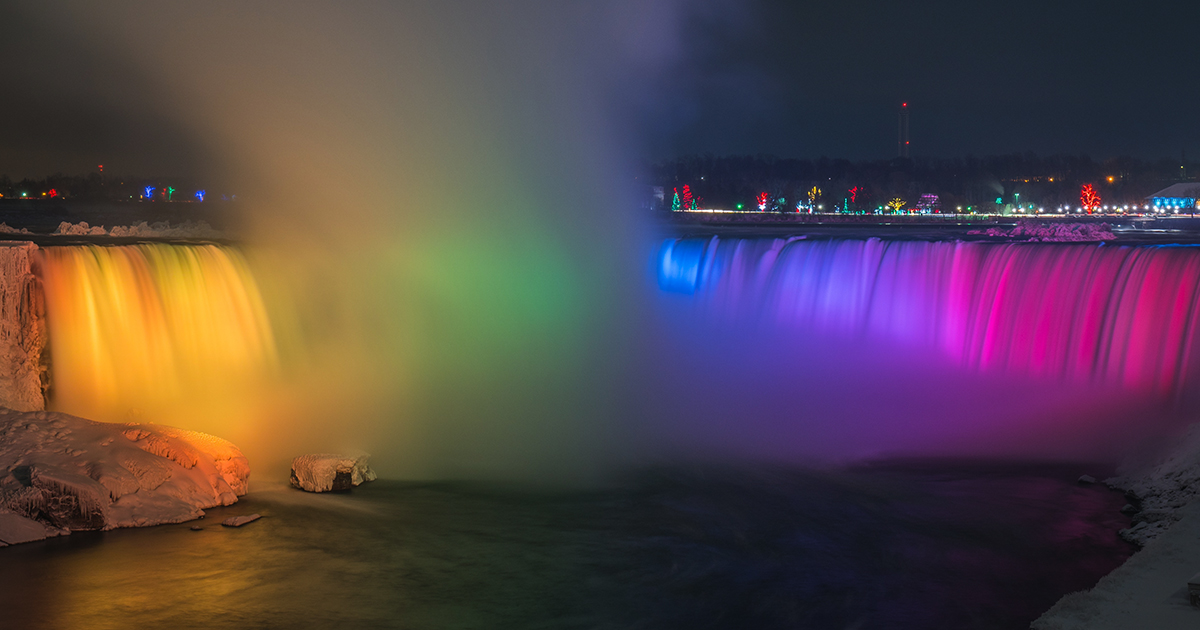Niagara falls instagram captions, quotes, sayings, puns, waterfalls sunset, rainbow