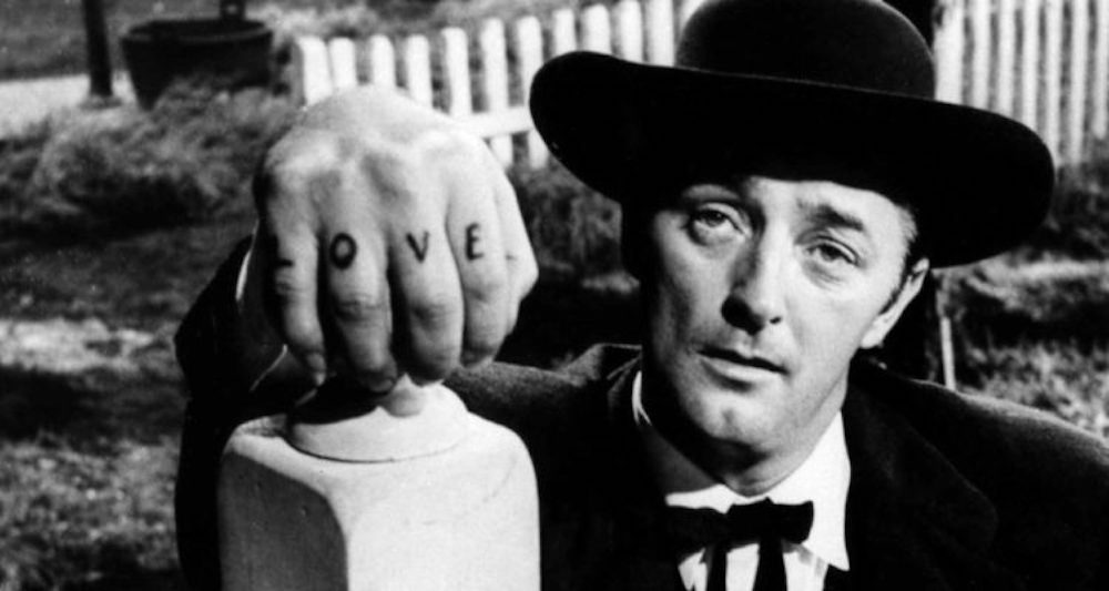movies, celebs, robert mitchum, the night of the hunter, 1955, noir