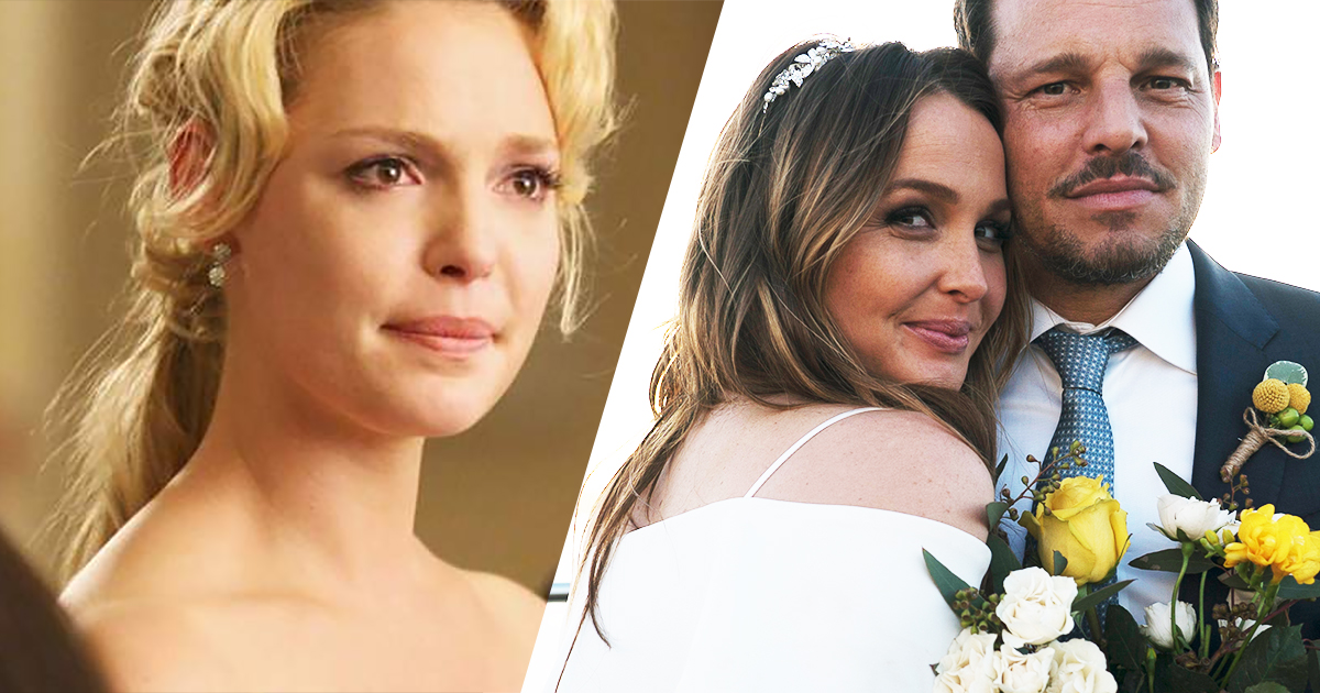 Izzie stevens crying with alex karev and jo wilson getting married, katherine heigl react to jolex