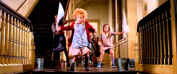 movies, annie, it's a hard knock life scene