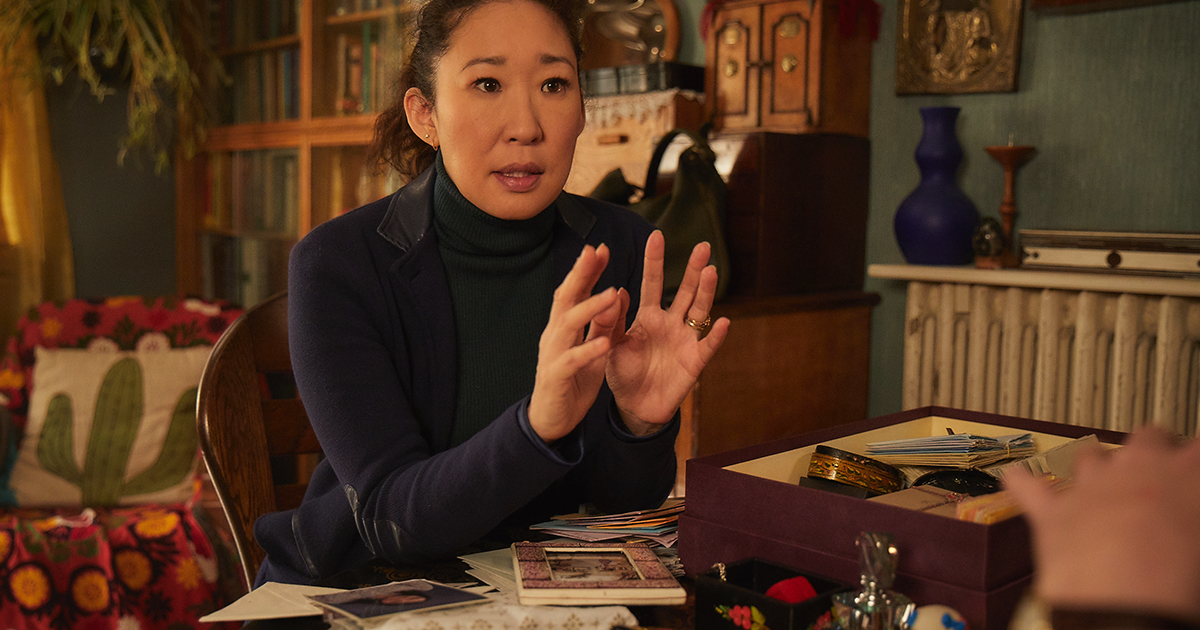 Sandra Oh Makes history, sandra oh emmy nomination, killing eve stills from season 1