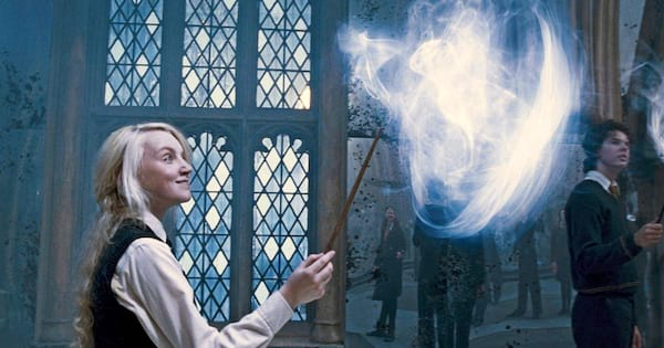 Luna Lovegood calling her cat patronus in Harry Potter