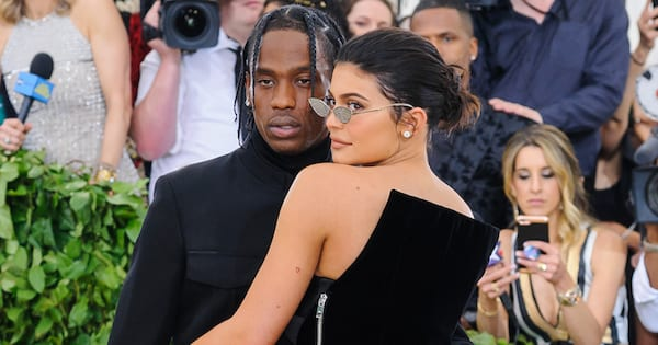 07 May 2018 - New York, New York - Travis Scott, Kylie Jenner. 2018 Metropolitan Museum of Art Costume Institute Gala: \Heavenly Bodies: Fashion and the Catholic Imagination