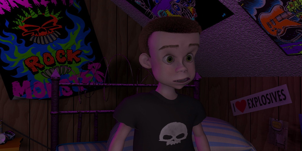 Sid Phillips from Toy Story looks surprised, movies