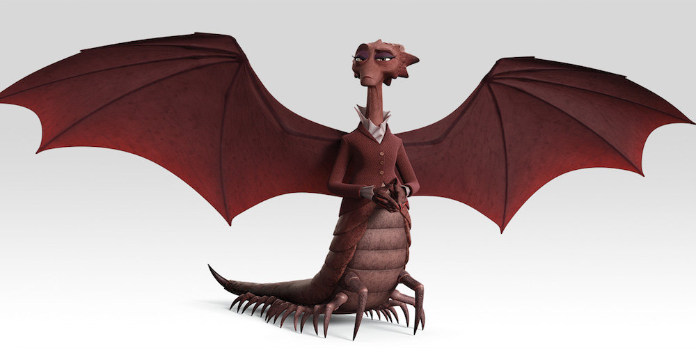 Dean Hardscrabble from Pixar's Monsters University poses with wings, movies