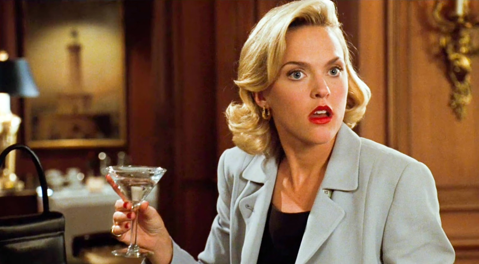 hero, The Parent Trap, meredith blake, blonde, drink, alcohol, shock, surprise, Cocktail, business