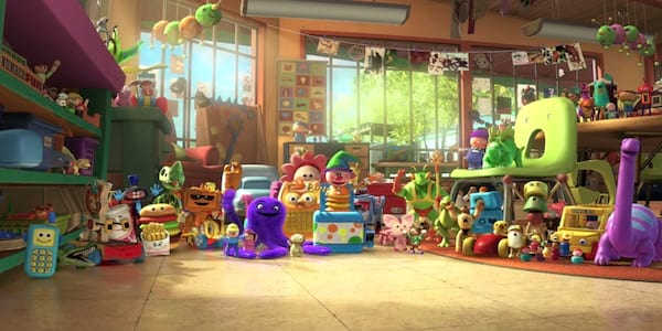The daycare toys from Pixar's \Toy Story 3\ welcome the new toys, movies