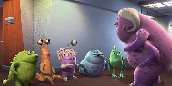 Boo is disguised in Pixar's \Monsters Inc.\ amongst the other monsters in her class, movies