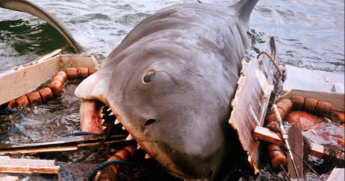 The shark in Jaws destroying a boat