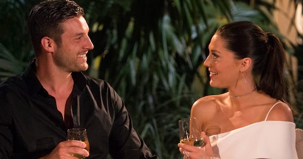 are becca and garrett still together the bachelorette 2018, becca and garrett sitting together on a date from season 14 bachelorette final 4