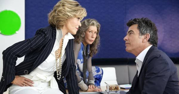 Jane Fonda and Lily Tomlin in season 3 of Netflix's Grace and Frankie
