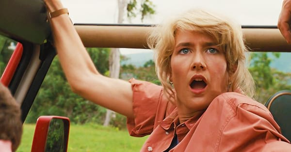 Jurassic Park, laura dern, scientist, blonde, hero, shock, face, surprise, wow, adventure, 90s, movies