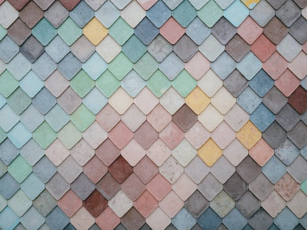 colorful shingles for the house