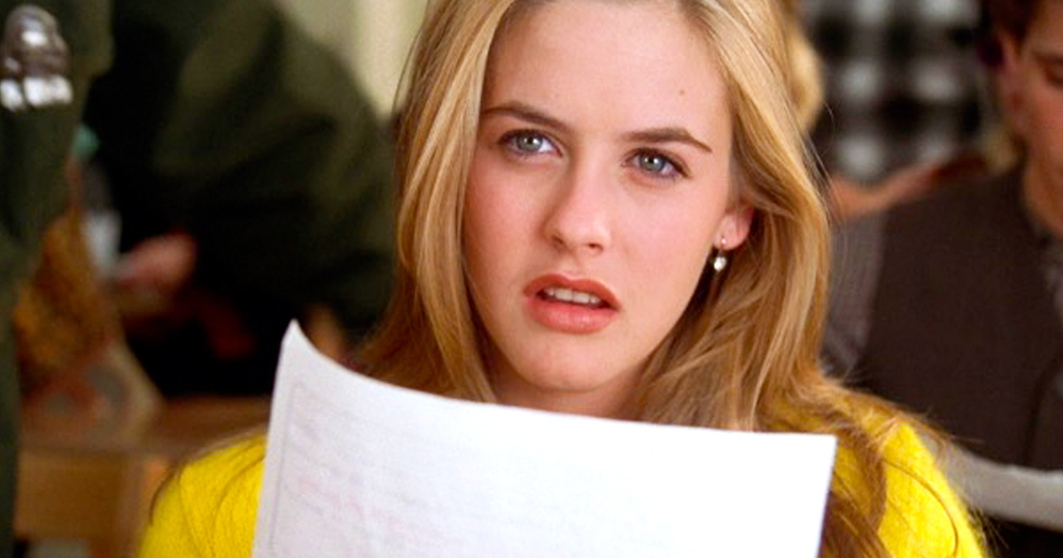 cher, clueless, blonde, hero, smart, face, thinking, confused, high school, teenager, popular, pretty, alicia silverstone, 90s
