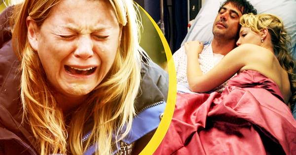 best grey's anatomy scenes cry, meredith grey crying plane crash, izzie stevens and denny duquette crying death