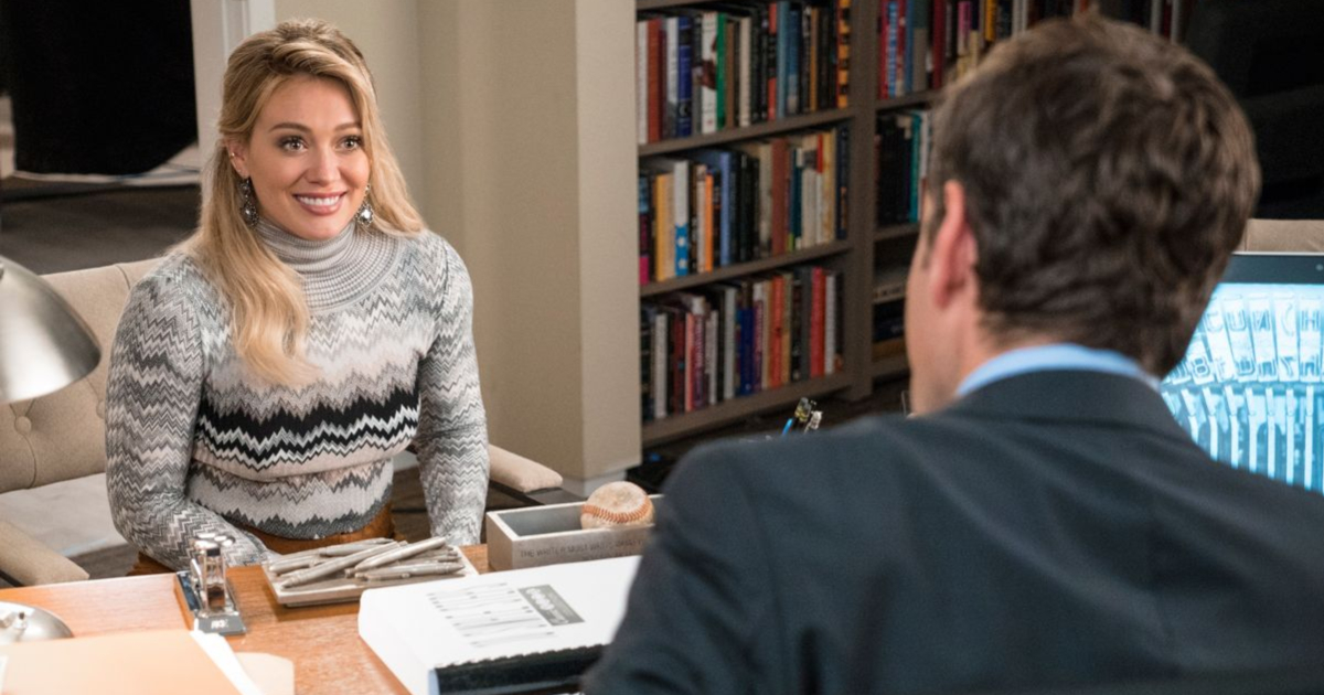 Hilary Duff as Kelsey Peters in TV Land's Younger