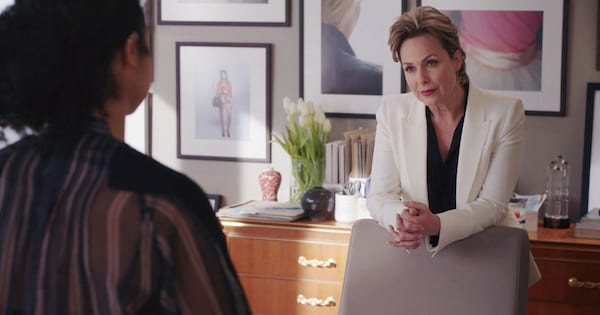 Melora Hardin as Jacqueline Carlyle in Freeform's The Bold Type