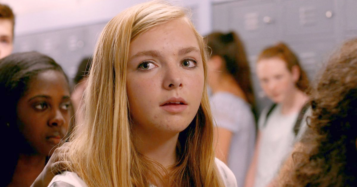 Elise Fisher as Kayla Day in Eighth Grade (2018), girl at school, school student, ., blonde