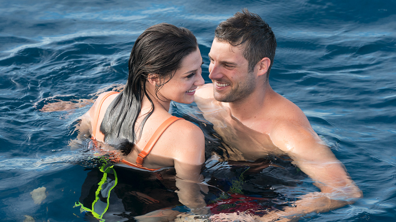 The Bachelorette 2018 finale, becca on final dates in the maldives with blake and garrett