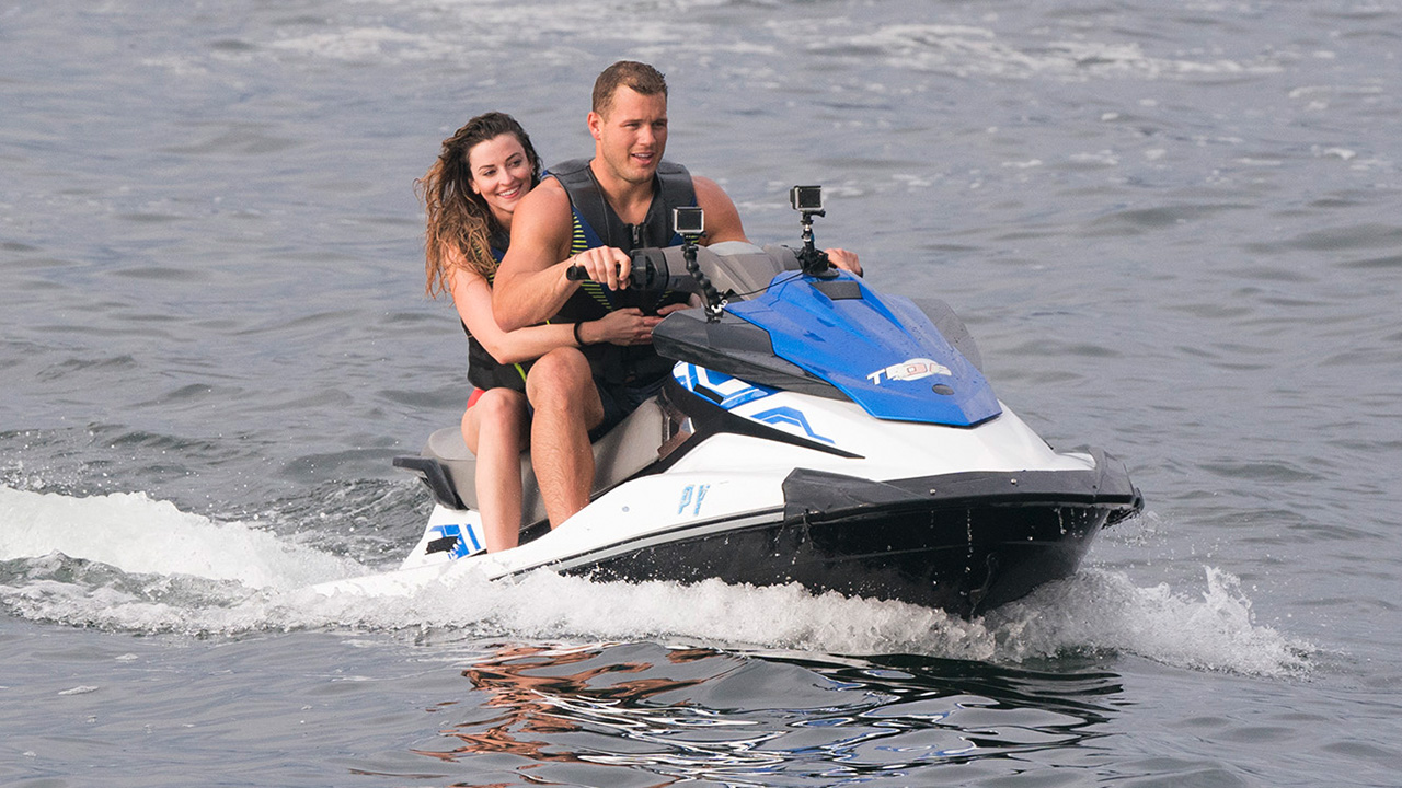 bachelor in paradise season 5, colton and tia jet skiing date
