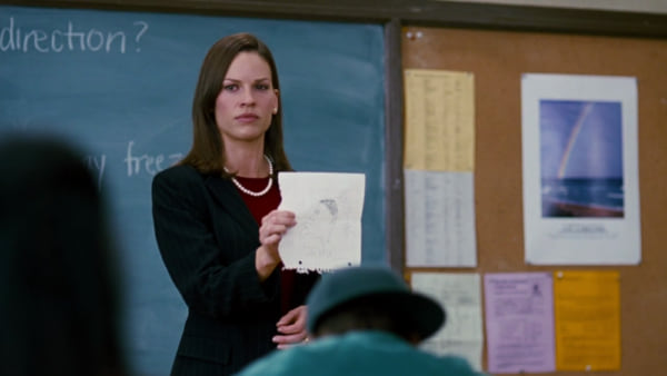 movies, celebs, freedom writers, hilary swank