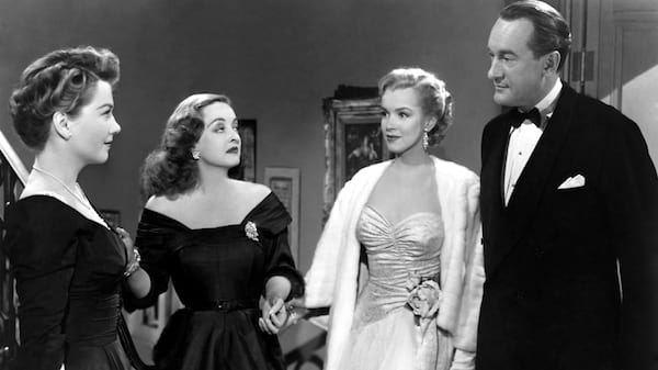 movies, celebs, All About Eve, anne baxter, Bette Davis, marilyn monroe, george sanders