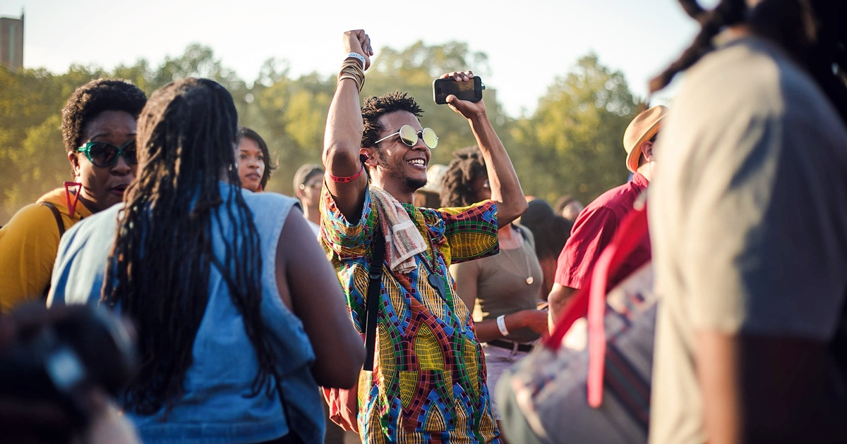 Group of people at Afropunk., science & tech, Music