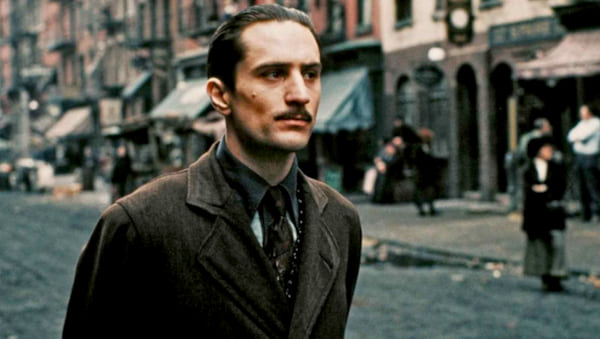 movies, celebs, the godfather part II, robert de niro as vito coleone, 1974