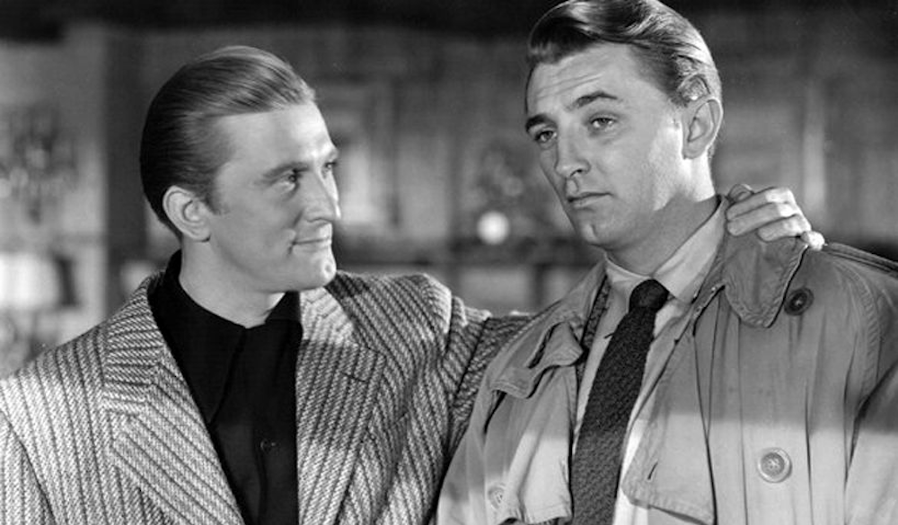 movies, celebs, out of the past, kirk douglas, robert mitchum, film noir