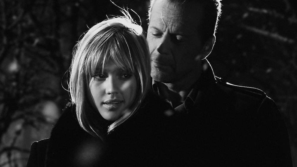 movies, Sin City, bruce willis, jessica alba