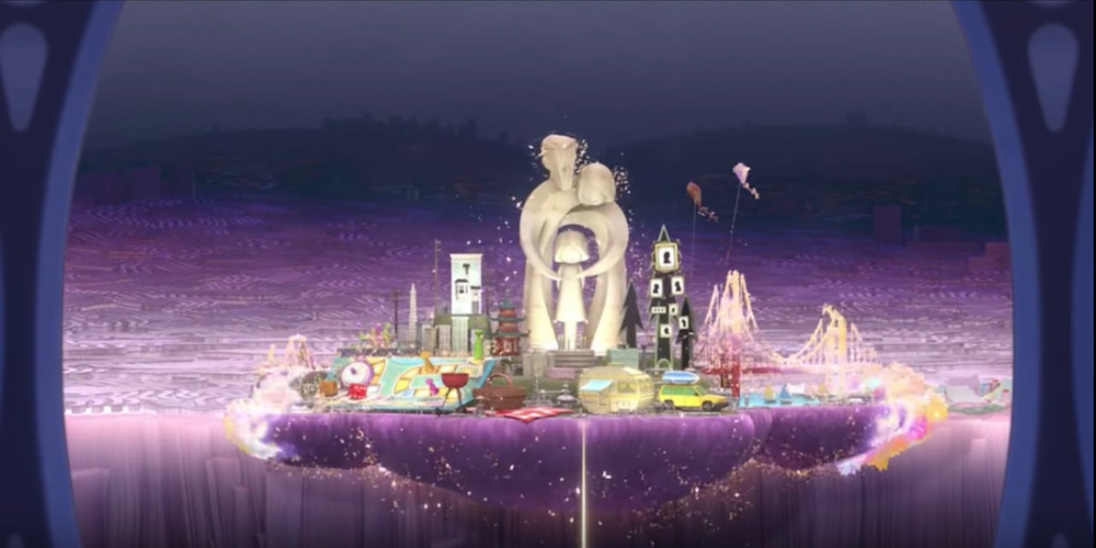 The first new memory island shows up in Pixar's Inside Out., movies