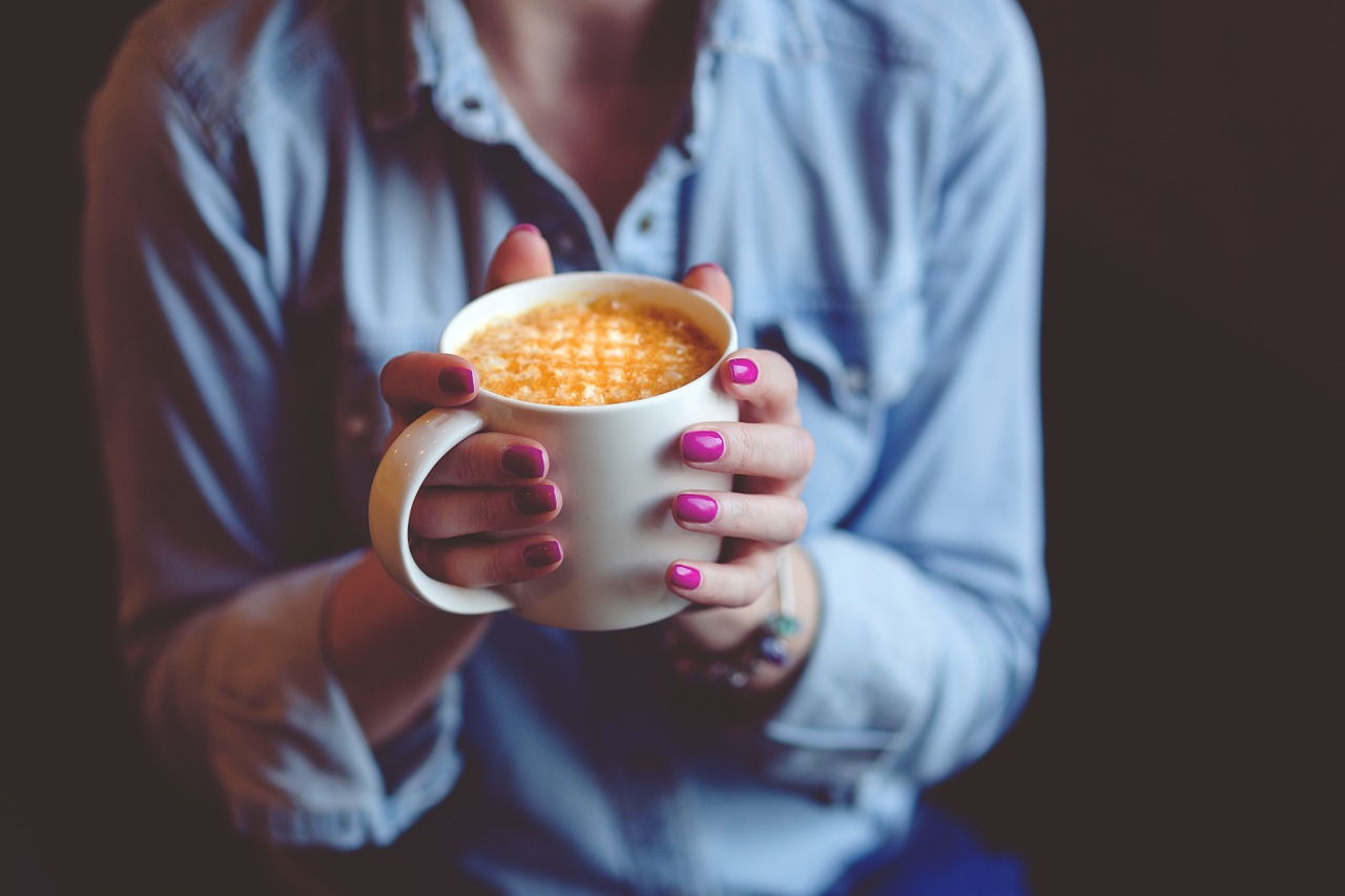 nail polish instagram captions, quotes, cup of coffee