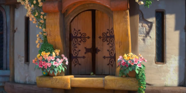 Rapunzel's tower window from Disney's Tangled., movies