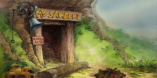 Winnie the Pooh's treehouse from Disney's Many Adventures of Winnie The Pooh., movies