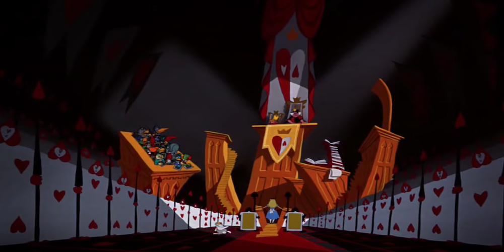 The Queen of Hearts' court from Disney's Alice In Wonderland., movies