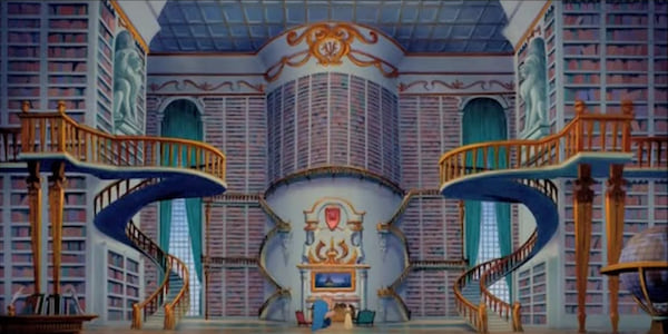 Beast's library from Disney's Beauty and The Beast., movies