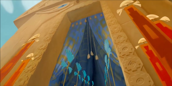 The entrance to Kuzco's palace from Disney's The Emperor's New Groove, movies