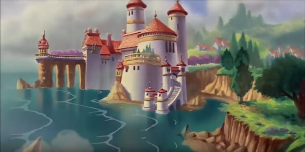 Prince Eric's castle from Disney's The Little Mermaid, movies
