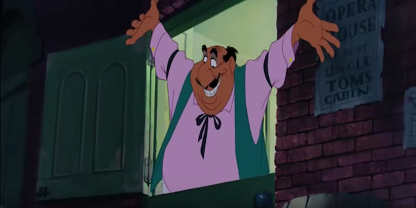 Tony from Disney's Lady and The Tramp welcomes the dogs to his restaurant., movies