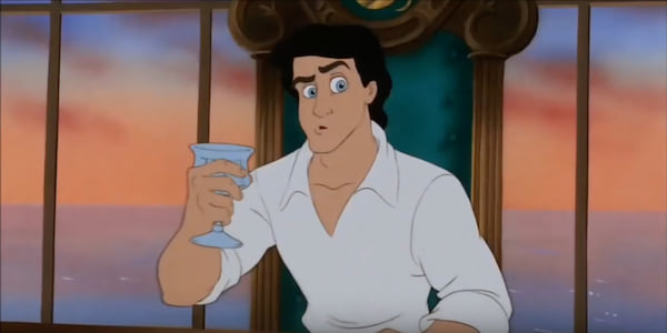 Prince Eric from Disney's The Little Mermaid looking confusedly off to the side., movies