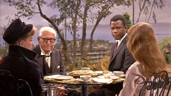 movies, celebs, guess who's coming to dinner, spencer tracey, Katharine Hepburn, sidney poitier