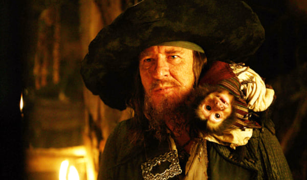 movies, celebs, Pirates of the Caribbean, geoffry rush as captain barbossa