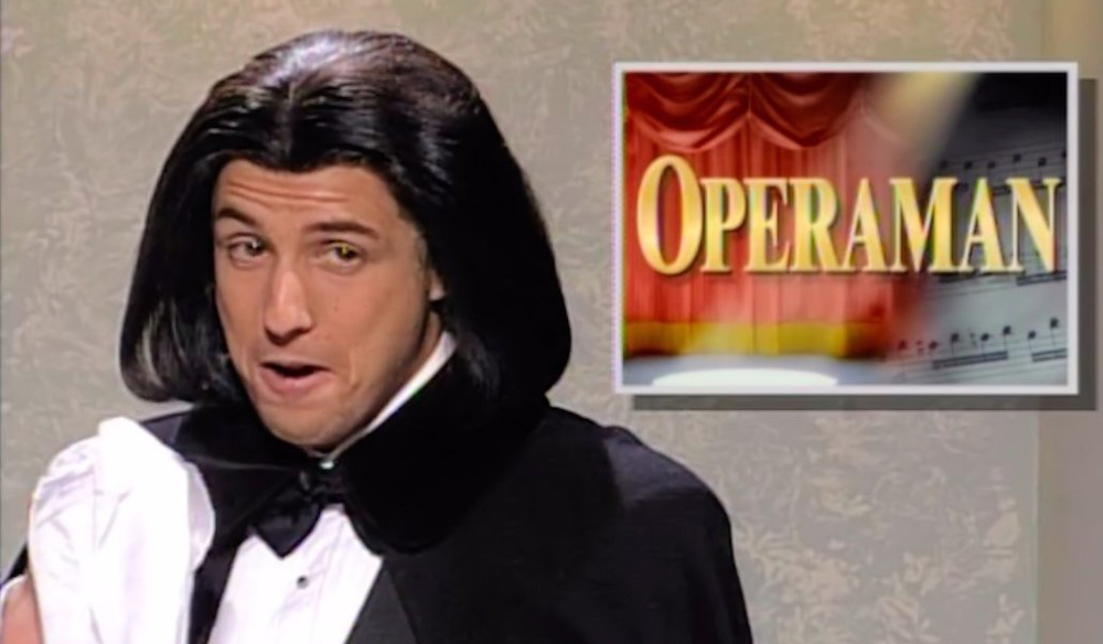 tv, saturday night live, celebs, adam sandler as operaman