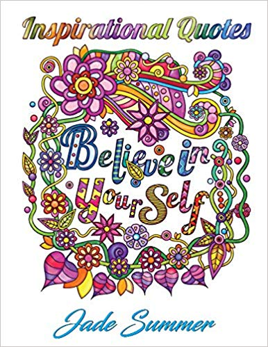 Inspirational Quotes coloring book cover