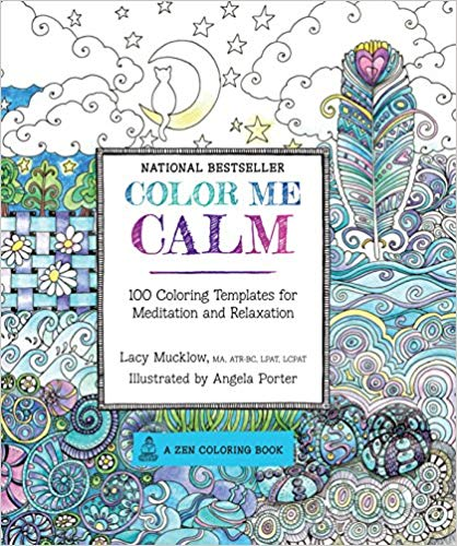 Color Me Calm coloring book cover