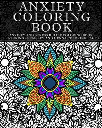 Anxiety Coloring Book cover