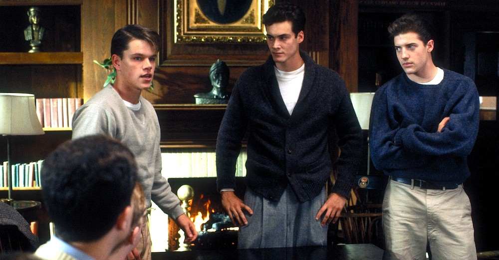 movies, celebs, school ties, 1992, Matt Damon, brendan fraser