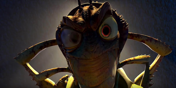 Hopper from Pixar's A Bug's Life stares down threateningly with crossed arms., movies