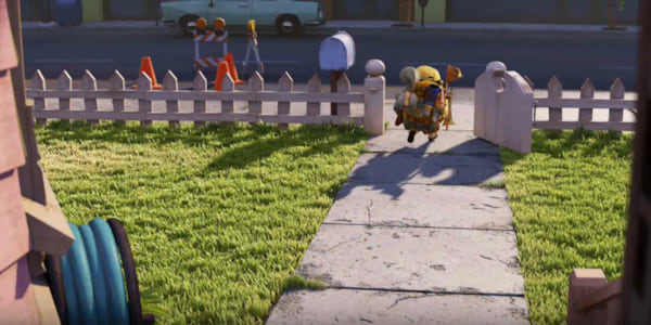Russell from Pixar's Up crosses Carl's lawn to look for a snipe., movies